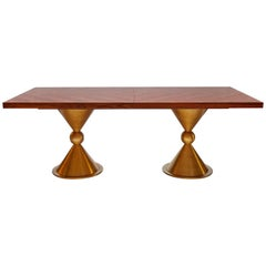 Caracas Dining Table with Rosewood Tabletop