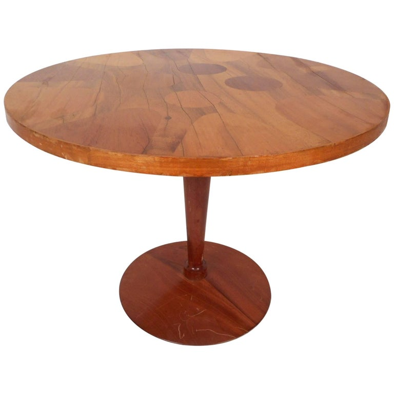 Unique mid century modern round end table for sale at 1stdibs for Unique end tables
