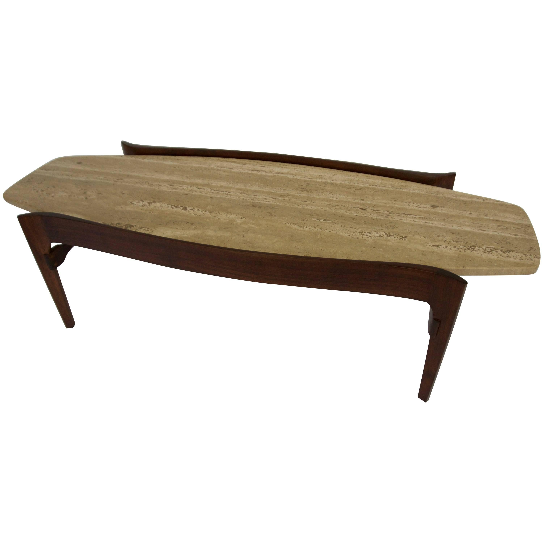 Gordon Furniture Travertine Coffee Table