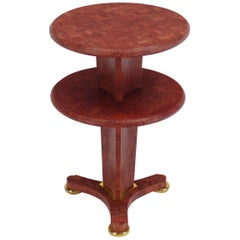 Round Tri Leg Two-Tier Side Table