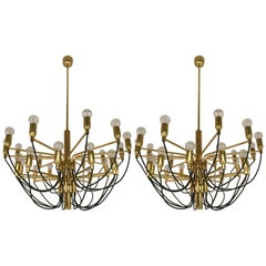 Two Chandeliers by Staff Leuchten, Germany, 1980s