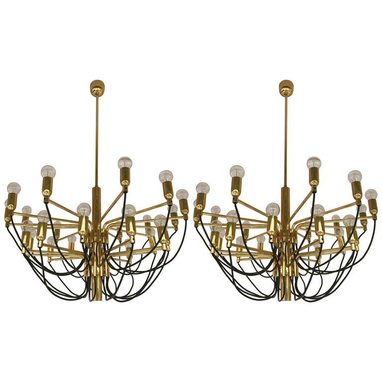 Two Chandeliers By Staff Leuchten Germany 1980s For Sale