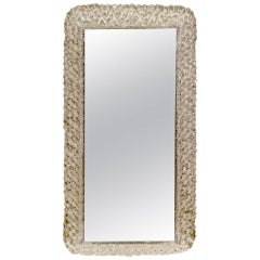 Illuminated Lucite Vanity Mirror by Hillebrand
