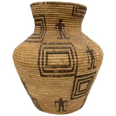 Antique Southwestern Native American Apache Basket, circa 1905