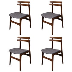 Set of Four Mid-Century Modern Teak Dining Chairs