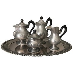 Buccellati Sterling Silver Coffee and Tea Service with Tray