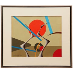 Gianni Frassati Abstract Geometric Painting, circa 1962