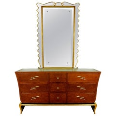 Rounded Commode and Mirror, 1940s