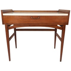 Small Mid-Century Modern Desk or Vanity by American of Martinsville