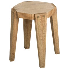 Vintage French Oak Stool