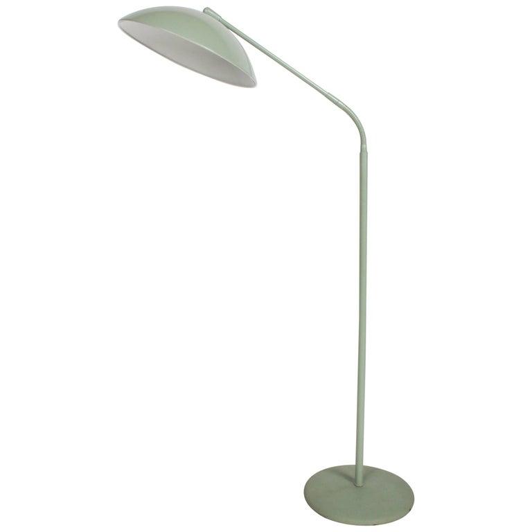 Kurt Versen Gooseneck Adjustable Floor Lamp  For Sale