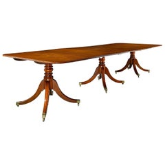 Georgian Three-Pedestal Dining Table
