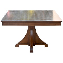 Craftsman Style Dining Table, Built to Order by Petersen Antiques