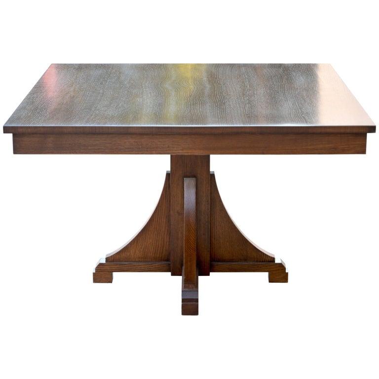 craftsman style dining table for sale at 1stdibs. Black Bedroom Furniture Sets. Home Design Ideas