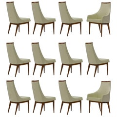 Twelve Dining Chairs in Walnut by Kipp Stewart for Calvin