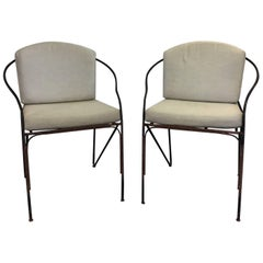 Pair of 19th c. French Iron Armchairs