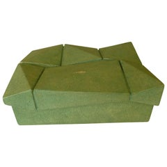 R&Y Augousti Shagreen Sculptural Box