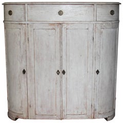 19th Century Swedish Period Gustavian Painted Buffet Cabinet