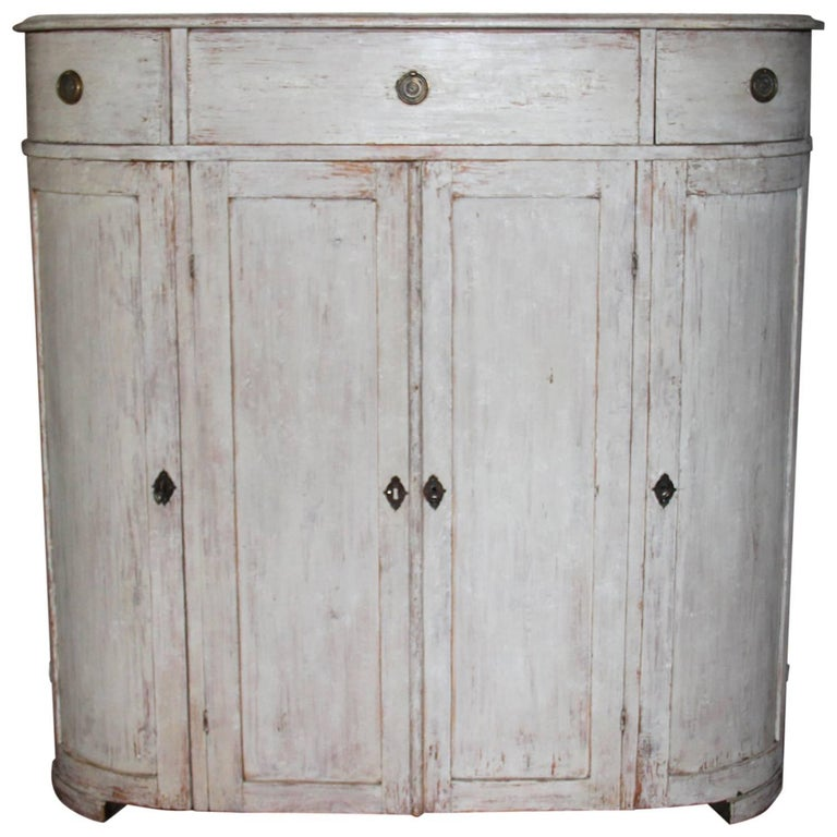 19th Century Swedish Period Gustavian Painted Buffet Cabinet 1