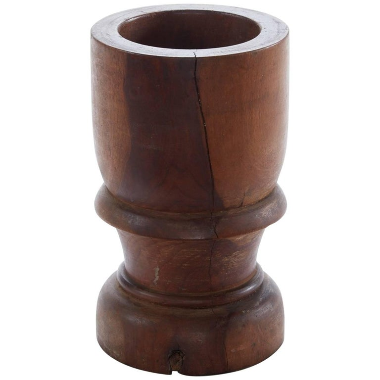Early 20th Century Wooden Mortar from Argentina