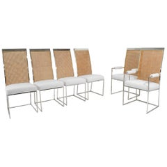 Milo Baughman Dining Chairs in Holly Hunt Great Outdoors