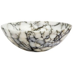 Medium Alabaster Tondo Bowl - In Stock
