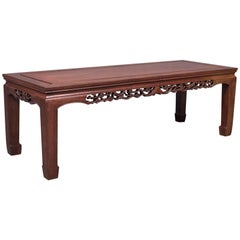 Midcentury Chinese Rosewood Coffee Table, Traditional Form