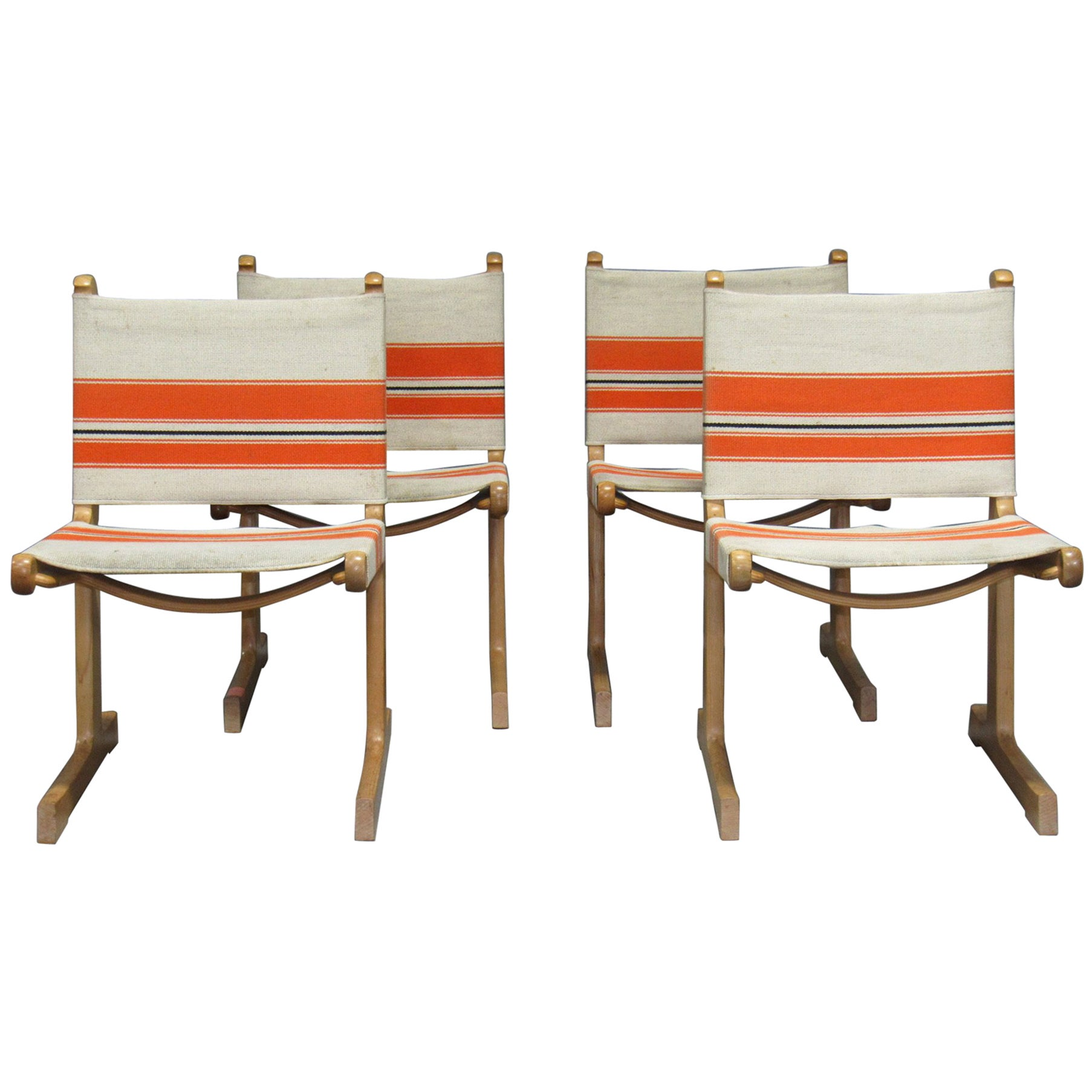 Set of 4 Cantilevered Dining Chairs by Ditte & Adrian Heath for France & Son