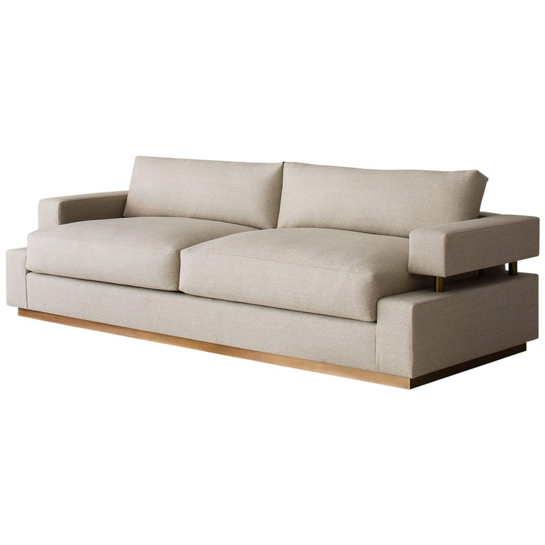 Contemporary Bern Sofa, Custom & Made to Order by Dmitriy & Co