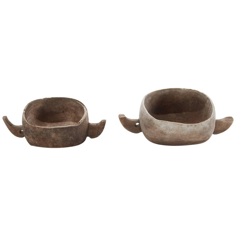 Pair of 20th Century East African Grain Bowls with Handles