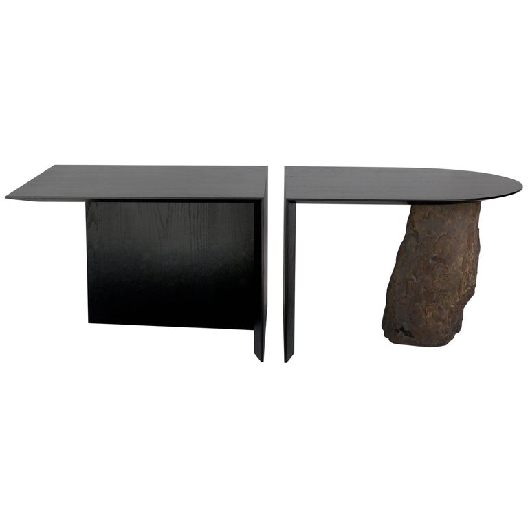 Missisquoi 01 Ash and Stone Coffee Table by Simon Johns No 09 of Edition of 13