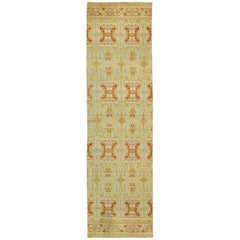 Green, Yellow, Orange Antique Spanish Runner Fragment