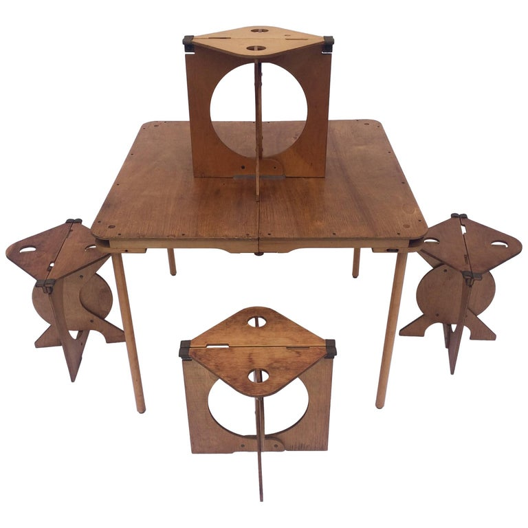 Barry Simpson for Dirt Road Rooster Stools and Table