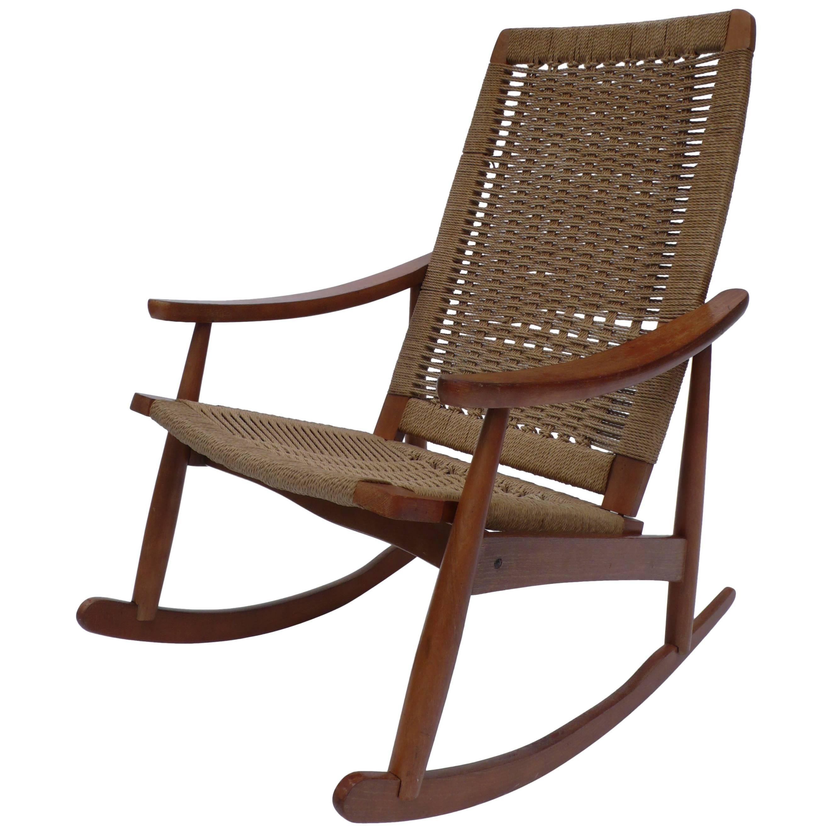 Midcentury Rocking Chair Made In Yugoslavia For Sale