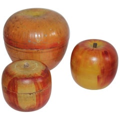 Three Folk Art Apple Collection