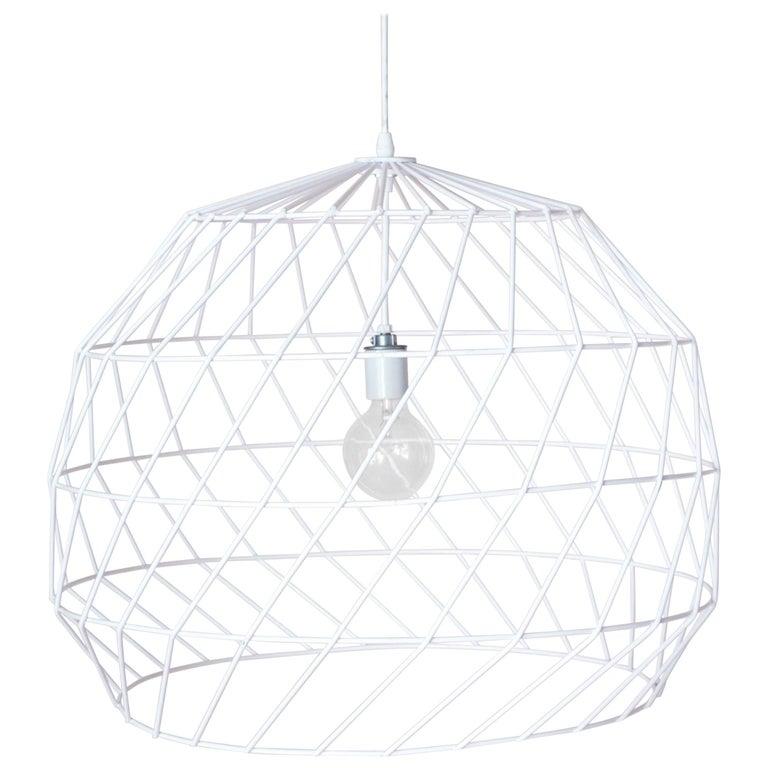 Single Bulb, Wire, Chandelier Size Array Pendant by Bend