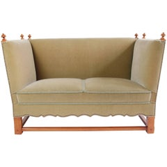 """Rare Mohair Settee from """"The Spanish Set"""" by Elias Barup"""