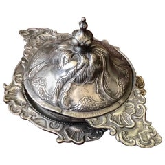 Polish Pewter Rococo Form Covered Bowl and Stand, Early 18th Century