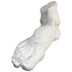 Hercule Foot Sculpture in Plaster, Made in France in 2016
