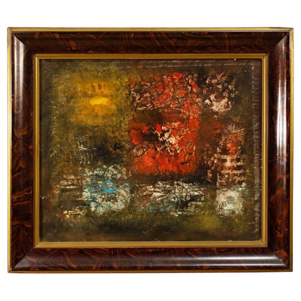 American Oil on Canvas Abstract Painting Signed by Robert Jay Wolff