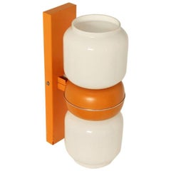 Wall Sconce or Wall Light in Orange, 1960s