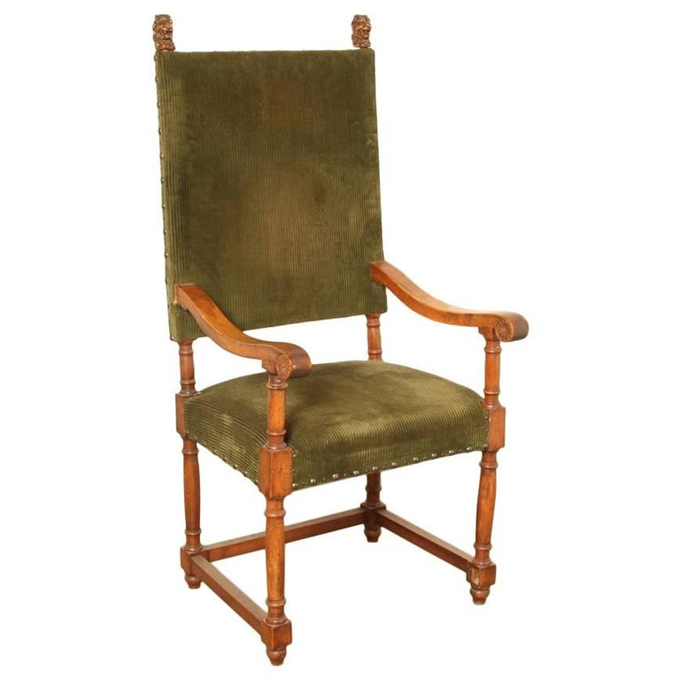 19th Century French Armchair, Throne