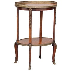 19th Century Kingwood and Parquetry Etagere