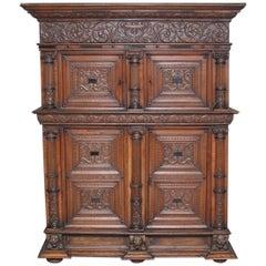18th Century Oak Flemish Cupboard