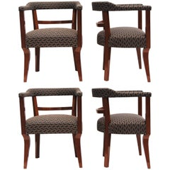 Set of Art Deco Armchairs, Four Pieces
