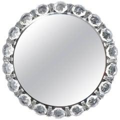 Bakalowits Crystal Diamond Backlit Mirror Glass Chrome, Austria, 1950