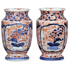 Pair of 19th Century Imari Vases