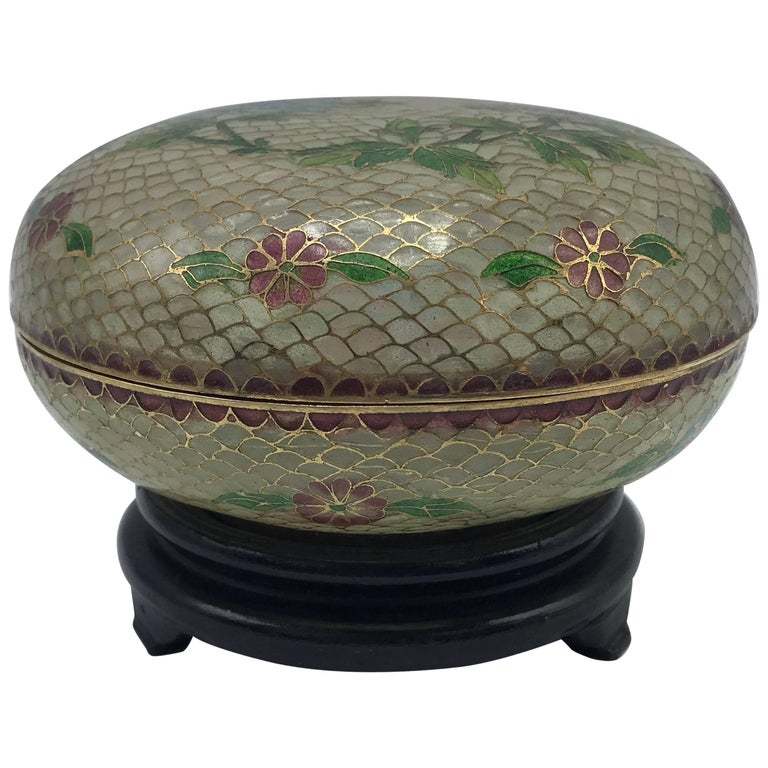 19th century french plique a jour cloisonn mosaic lidded for Cloison stand