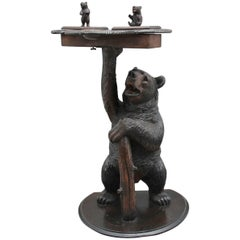 19th Century Musical Black Forest Smokers Stand