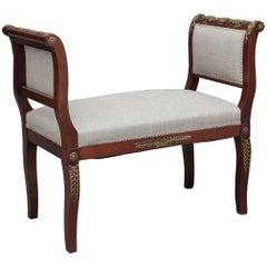 19th Century Mahogany and Ormolu Window Seat